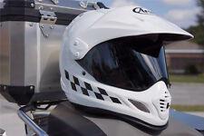 Reflective Checker Design Decals for Arai XD4 Motorcycle Helmet - Safety Sticker