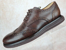 Cole Haan LunarGrand Brown Leather Oxford Wingtip Brogue Men Size 7