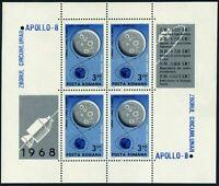 Romania C171a-C172a sheets,MNH.Mi Bl.69,Bl.71. Apollo-8,4 Soyuz & Soyuz 5,1969.