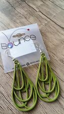 Grass Roots Creations BOUNCE Women's Earrings Green fishhook Hypoallergenic