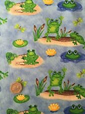 Blank Quilting Froggin' Around Frog Pond Cotton Quilting Fabric FQ 50cm x 54cm