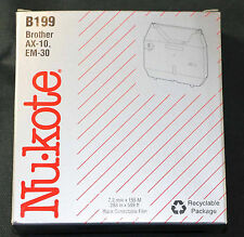 NIB Nukote B199 Black Typewriter Film For Brother AX-10 EM-30