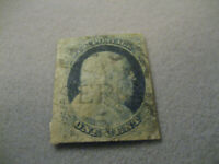 US Stamp Scott #9 1c USED READ