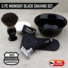 Wet Shaving Gift Set For Men Vintage Style Shaving Brush,DE Safety Razor,Bowl,