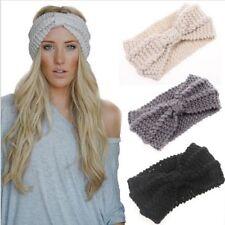 1PC Women Lady Crochet Bow Knot Turban Knitted Head Wrap Hairband Winter Ear War