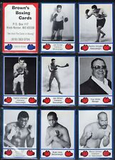 1985 Brown's Boxing 35 Card Complete Set with Header Series 1