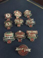 Set of 1992 St Louis Cardinals SGA World Series Champ Pins Coca Cola pinback