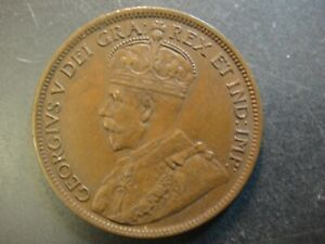1917-C Newfoundland Canada Bronze Large Cent. King George V. Uncirculated.