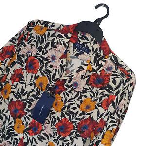 Men's ZARA MAN Premium FLORAL PATTERNED Short Sleeved Shirt Size M *BNWT*