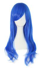 Peluca Azul Rey con Broca Lisa Larga 60cm, Fantasía Cosplay Halloween