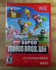 New Super Mario Bros. Wii (Nintendo Wii, 2009) Complete in Box Case Tested CIB