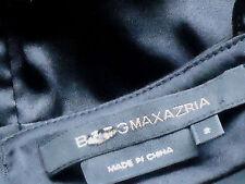 BCBG MAXAZRIA 95%SilkSatinBlkStrappyMini SizeUS2 NEW*