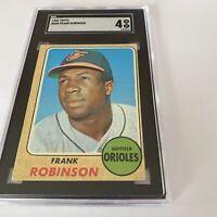 1968 TOPPS #500 FRANK ROBINSON SGC 4 HOF Baltimore ORIOLES