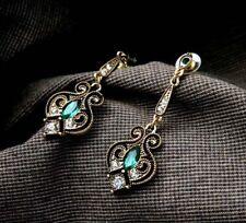 Gypsy Tibetan Vintage Boho Rhinestone Dangle Tassels Hollow Earrings Women Gift