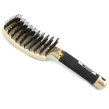 Curved Vented Boar Bristle Detangling Hair Brush for Women Long Curly Wavy Hair
