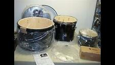 CB CB5N BLACK DRUM SHELL KIT WITH BASS DRUM/2 TOMS/BASS PEDAL -NEW!!