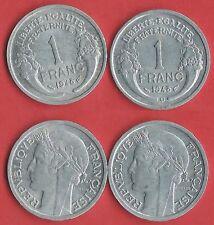 1 FR RÉPUBLIQUE 1948 et  B  SERIE COMPLETE ETAT VOIR PHOTO