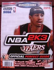 NBA 2K3 BASKETBALL NEW Official PERFECT GUIDE Versus Books 46 Game Strategy