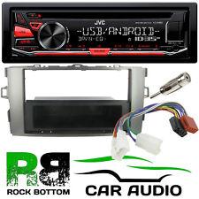 For TOYOTA AURIS E15 JVC CD MP3 USB AUX In Car Stereo & Silver Fascia & Kit