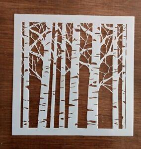 TREES STENCIL 130mm x 130mm
