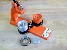 EASY TO USE ENTERPRISE MICRO BADGE MAKING MACHINE PRESS 25mm & CUTTER COST £130