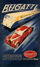 Bugatti Train 1935 Vintage Racing Automobile Autorail Canvas Print 20x33