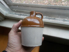 RED WING STONEWARE PINT JUG WITH RAISED RING AROUND MIDDLE UNMARKED REDWING
