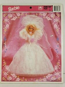 Barbie Frame Tray Puzzle Mattel Kids Collectible #8384 Complete 1992