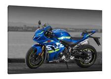 2017 Suzuki GSXR-1000 - 30x20 Inch Canvas - Framed Picture Print Art Superbike