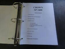 Crown Lift Trucks SP3400 Forklift Manual
