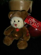 """Russ Small """"Cookie"""" Plush Bear With Tags"""