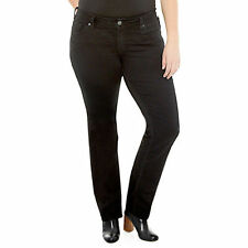 Silver Suki Slim Boot Cut Jeans Black Plus Size 16 Mid Rise New