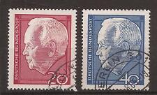 1964 Dr. Heinrich Lübke set fine used, Michel 429-430.