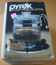 Vintage New Pyrex 6 Cup Percolator Coffee Pot #7756 Stove Top