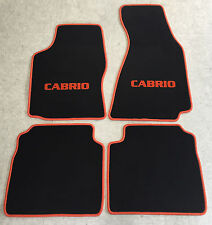 Autoteppiche Fußmatten für Audi 80 B4 Cabrio 1991-00 orange 4tlg. nicht original