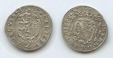 G13212 - Erzbistum Salzburg 2 Kreuzer 1707 Johann Ernst von Thun und Hohenstein