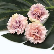 20Pcs Bulk Artificial Silk Flowers Heads Fake Rose Carnation Peony-Lavender