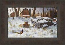 Jim Hansel Winter Refuge Cardinal Print 7.75 x 12