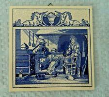 Burroughs Wellcome Co. Delft Holland Pharmacy Pill Tile Pharmacist's Laboratory