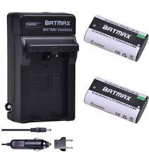 Batmax 2Pcs 2500mAh KLIC-8000 KLIC8000 DB50 Battery + Charger Kits for Kodak Eas