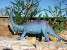Imperial 1985 Made in Hong Kong~Brachiosaurus Dinosaur~Purple/Blue Figure