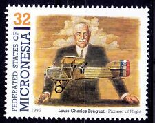 Louis C Breguet, French aircraft designer, Micronesia MNH -S34