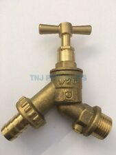 """1/2"""" Brass Outdoor Garden Tap WITH CHECK VALVE, Hose Union, Bibcheck, Outside"""