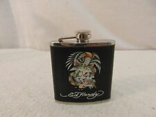 Authentic Ed Hardy Black Eagle Snake Skull Tattoo Stainless Steel 6oz Flask