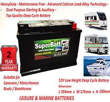 12V 110AH SuperBatt LM110 Super Heavy Duty Deep Cycle Leisure Marine Battery