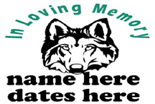 In Memory Of Vinyl Graphic Decal / Sticker - Custom  - 5 COLOR CHOICES & 2 SIZES