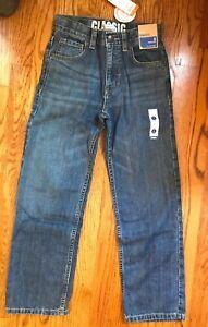 NWT Gymboree Sz 8 Boy Blue Jeans INDIGO DYE Classic Adjustable Waist 5-Pocket