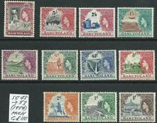 BASUTOLAND - 1954 QEII Set to 10/- 'MOHAIR' MVLH SG 43-53 Cv £110 [9565]
