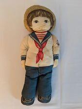 Vintage stuffed cloth doll U.S. Navy sailor boy