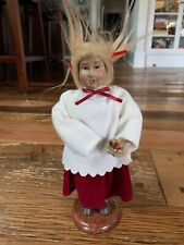 "Caroler Doll Figurine Handcrafted Byers Style 9"" Tall"